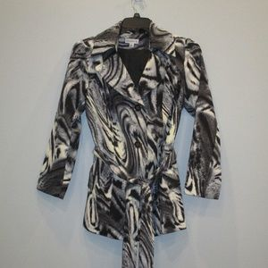Susan Graver Animal Print Trench XS beautiful!